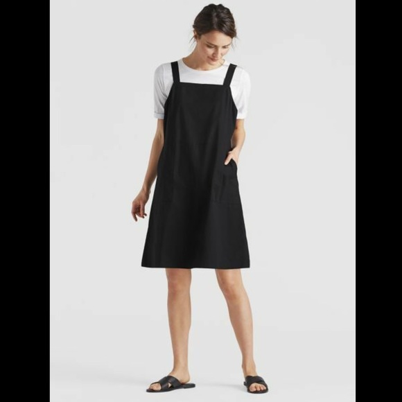 Eileen Fisher Organic Cotton Poplin Jumper Dress